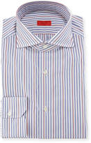 Isaia Striped Woven Dress Shirt