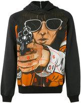 Christopher Kane graphic print hoodie - men - Cotton - XS