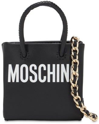 Moschino Micro Shopping Leather Bag
