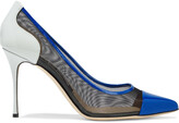 Thumbnail for your product : Sergio Rossi Godiva 90 Color-block Patent-leather And Mesh Pumps