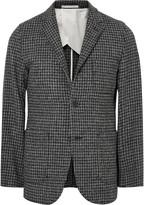 Beams Slim-Fit Houndstooth Harris Wool-Tweed Blazer