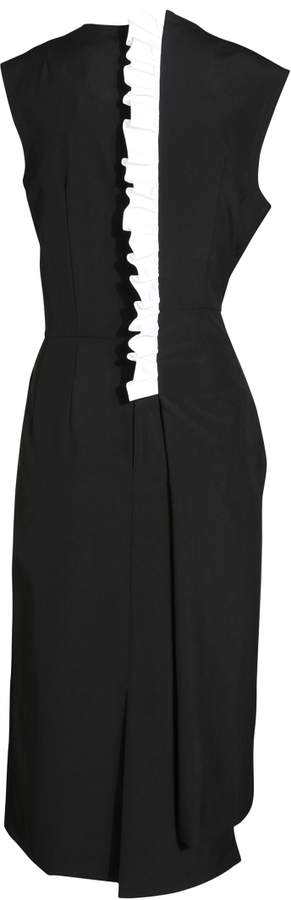 Comme des Garcons Dress with Striped Ruffle
