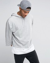 Asos Oversized Hoodie With T-Shirt Hem