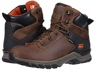 Timberland Hypercharge 6 Soft Toe WP (Brown Distressed) Men's Work Boots
