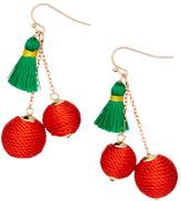 Red & Green Cherry Drop Earrings