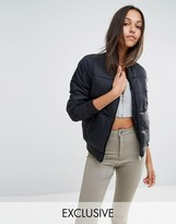 Missguided Exclusive Padded Bomber Jacket