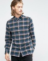 Penfield Barrhead Check Button Shirt in Regular Fit Brushed Cotton