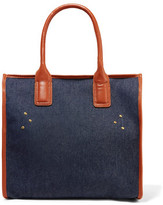 Jerome Dreyfuss Lukatow Leather-Trimmed Denim Tote