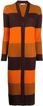 Equipment longline ribbed knit cardigan