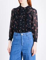 Masscob Floral silk-chiffon shirt