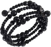 Carolee Bracelet, Jet Bead Three Row Stretch