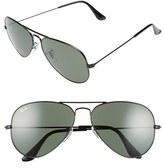 Ray-Ban Men's Original Aviator 58Mm Sunglasses - Black/ Grey Green