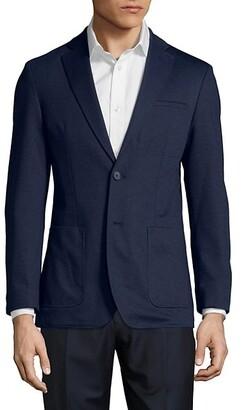 Karl Lagerfeld Paris Slim-Fit Patch-Pocket Blazer