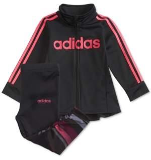 adidas Baby Girls 2-Pc. Tunic Track Jacket & Leggings Set