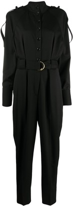 Proenza Schouler High Neck Belted Jumpsuit