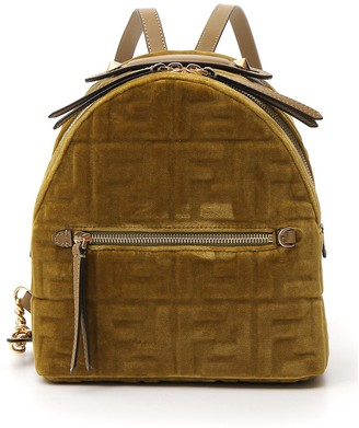 Fendi FF Embossed Mini Velevt Backpack