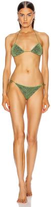 Oseree Two Piece Bikini in Green | FWRD