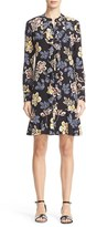 Tory Burch Women's Jane Floral Silk Shirtdress