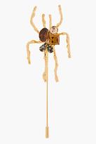 Marni Gold Crystal-Embellished Spider Pin