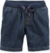 Carter's Denim Ribbed-Waist Shorts, Toddler Boys (2T-5T)