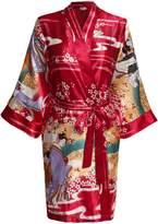 HOTOUCH Womens Gorgeous and Comforatble Kimono Robe for Sleepwear & Bride Robe XL