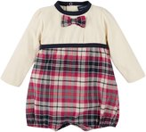 Andy & Evan Plaid Romper (Baby) - Pink-3-6 Months