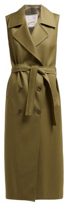 Giuliva Heritage Collection The Alex Sleeveless Wool Dress - Khaki