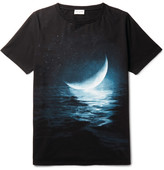 Saint Laurent Slim-Fit Printed Cotton-Jersey T-Shirt