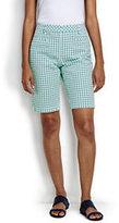 "Classic Women's Mid Rise 10"" Chino Bermuda Shorts-Lemon Multi Plaid"