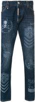 Philipp Plein skull print slim-fit jeans