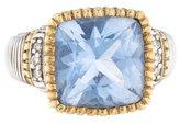 Judith Ripka Blue Quartz & Diamond Ring