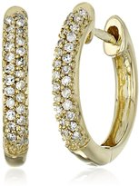 Amazon Collection 10k Rose Gold Brown Diamond Hoop Earrings (1/10cttw, I-J Color, I2-I3 Clarity)
