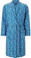 John Lewis Flower Power Robe, Blue/burgundy
