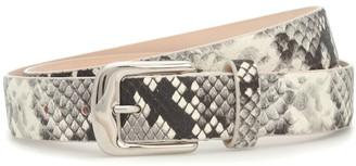 Maison Margiela Snake-effect leather belt