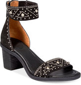 Frye Women's Brielle Deco Back-Zip Block-Heel Sandals