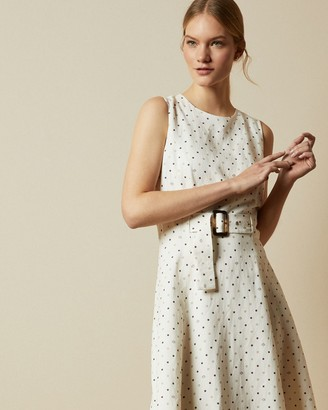 Ted Baker Spotted A-line Midi Dress