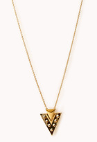 Forever 21 Spiked Camo Arrowhead Necklace