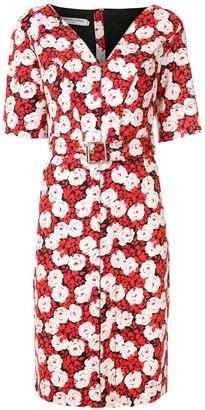Reinaldo Lourenço Floral Short Sleeves Dress