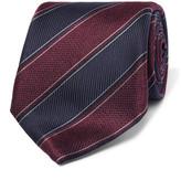 Canali 8cm Striped Silk-Jacquard Tie
