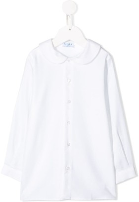 Siola long-sleeved Peter Pan collar shirt