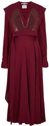 Stella McCartney Sable Red Panelled Dress