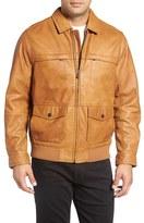 Tommy Bahama Men's Big & Tall 'Santiago' Lambskin Leather Aviator Jacket