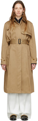 Givenchy Beige 4G Buttons Trench Coat