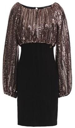 Just Cavalli Bead-embellished Textured-jersey Mini Dress