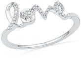 "Zales Diamond Accent Cursive ""LOVE"" Ring in Sterling Silver"