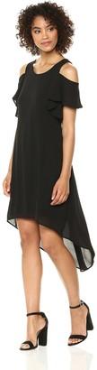 Karen Kane Women's Cold Shoulder Hi-lo Dress