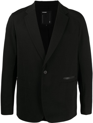 Attachment Trimmed Pocket Single-Breasted Blazer