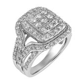 MODERN BRIDE Womens 2 CT. T.W. Round White Diamond 10K Gold Engagement Ring