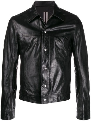 Rick Owens Cropped Leather Jacket