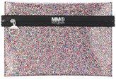 MM6 MAISON MARGIELA logo print glittery pouch